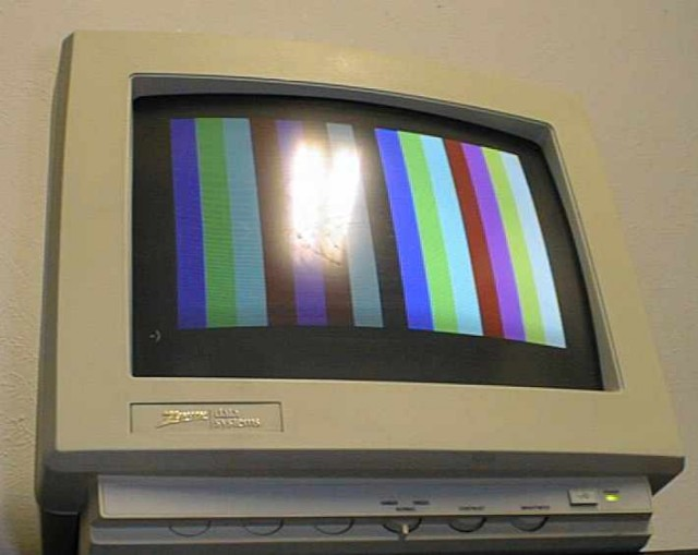 A time bomb waiting to explode: a ZDS 13-inch monitor.