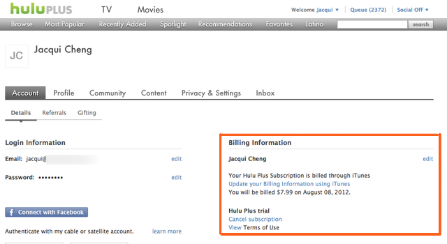 You can see your subscription status and who's billing you through Hulu's website.