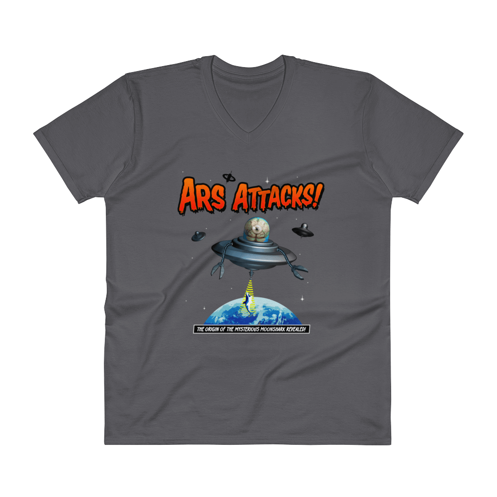 Ars Attacks! V-Neck Charcoal