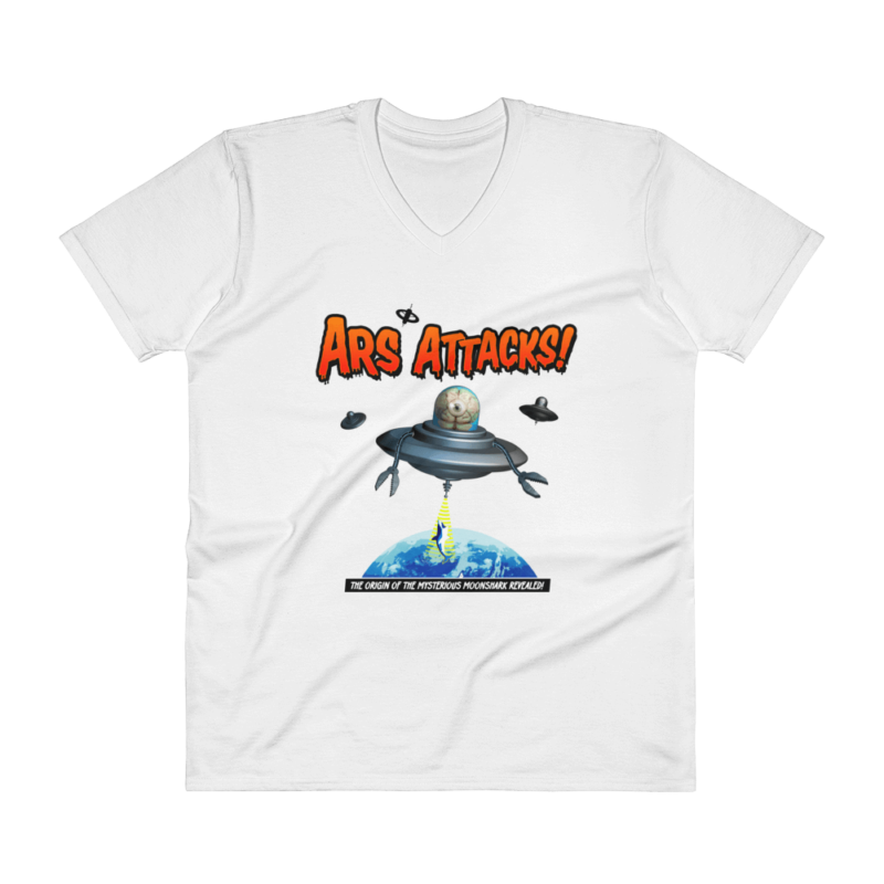 Ars Attacks! V-Neck White