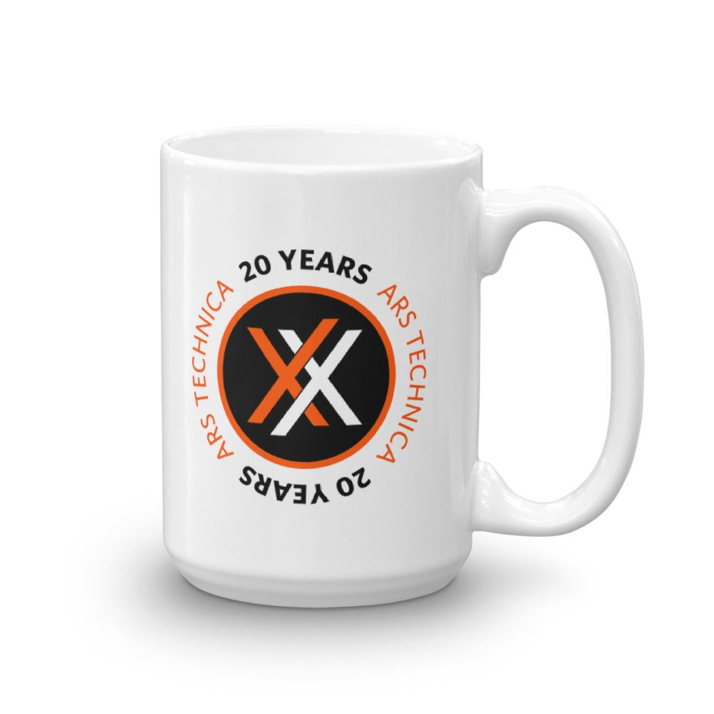 Ars 20th Anniversary Mug 15oz Logo