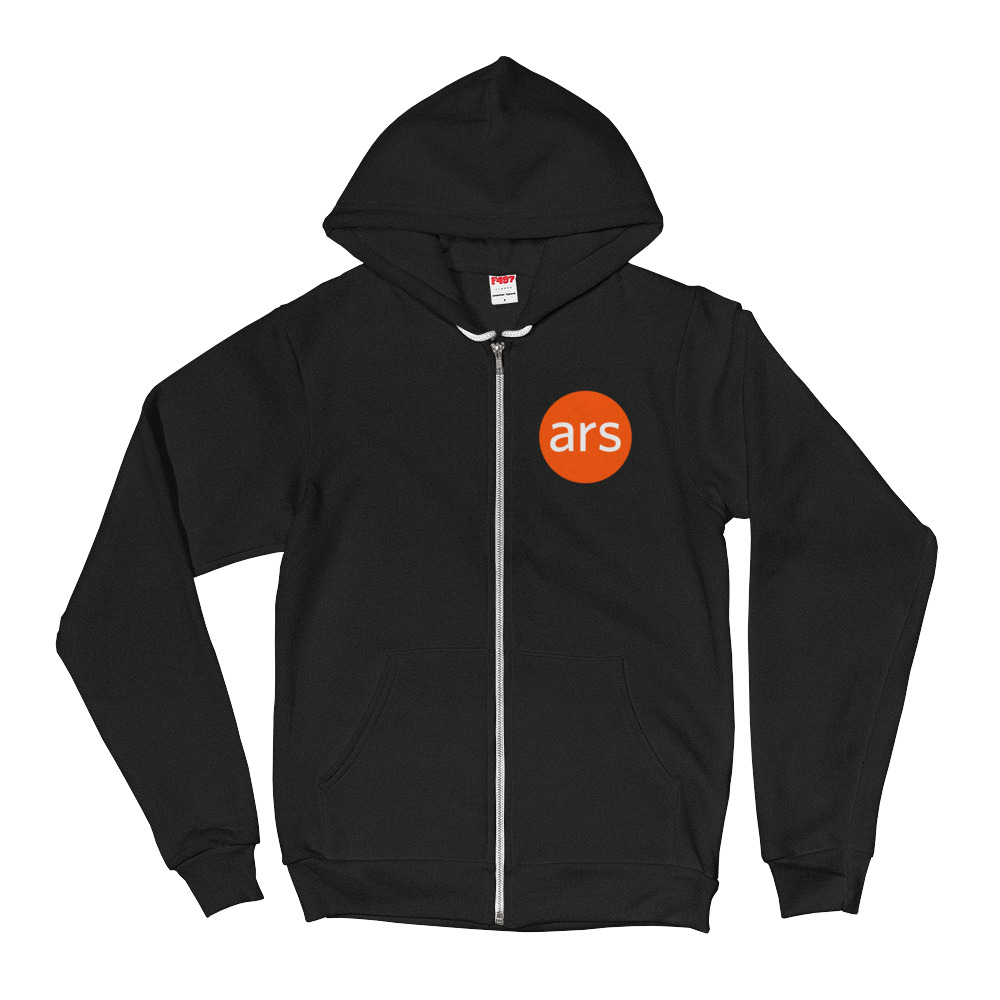 Ars Zippered Hoodie Front