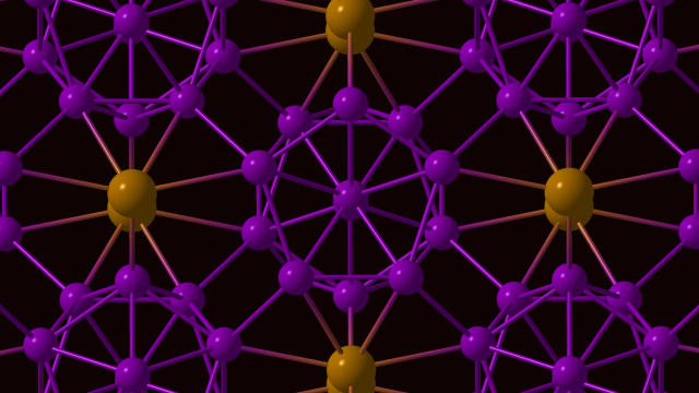 Image showing the structure of the new phase of boron, gamma-B.