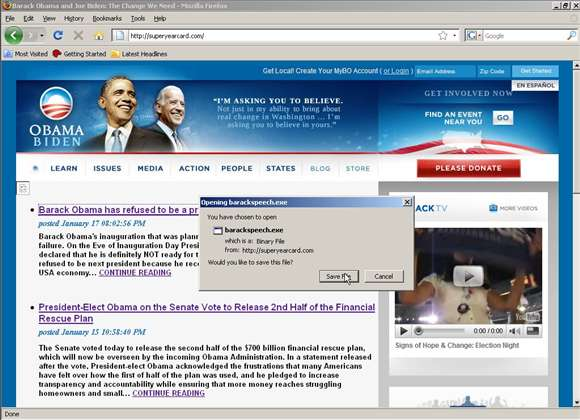 New malware scam claims Obama to resign. Hint: It's not true