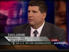 Russell Tice speaks with MSNBC's Keith Olberman.