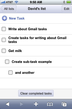 Google brings Gmail tasks to iPhone