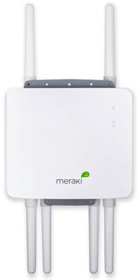 The front of the Meraki MR58 triple 802.11n radio outdoor node.