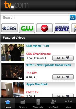 TV.com's new iPhone app: Pretty but spotty
