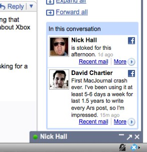 Hands on: Xoopit adds Facebook data to Gmail