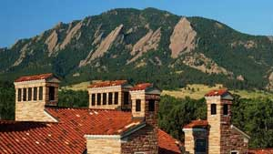 The Flatirons make for an impressive backdrop