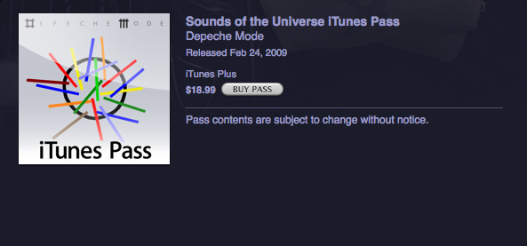 iTunes Pass seems like a great deal for serious fans, but you'd think for $18.99, they could put a little extra work into the Pass icon.