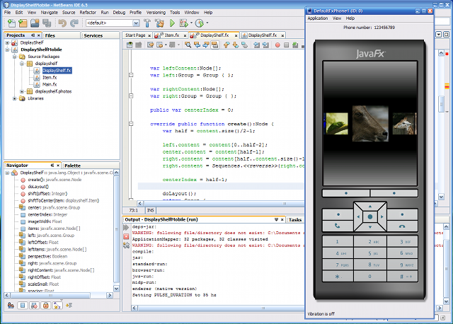 JavaFX Mobile emulator and NetBeans