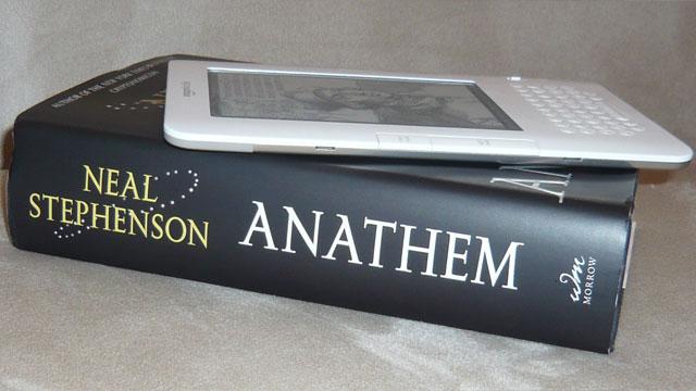 Two copies of Neal Stephenson's <em>Anathem</em>