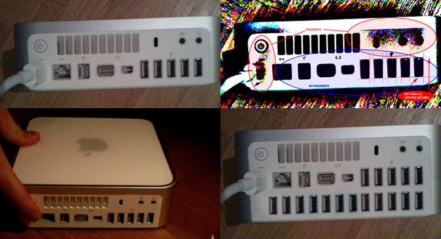 Clockwise from top left: The original Mac mini