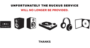 Visitors to Ruckus are now greeted with this image