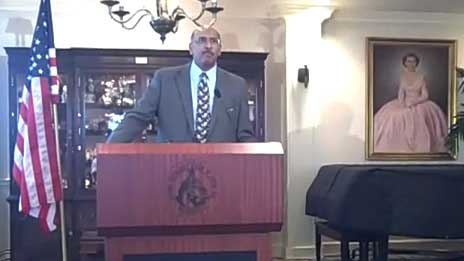 RNC chairman Michael Steele addresses the gathering
