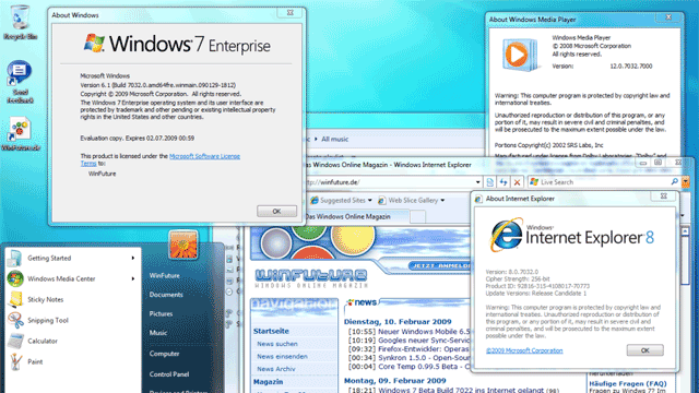 First Windows 7 build 7032 screenshots leak (Updated)