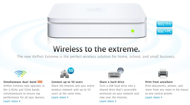 Apple brings dual-band networking to AirPort, Time Capsule