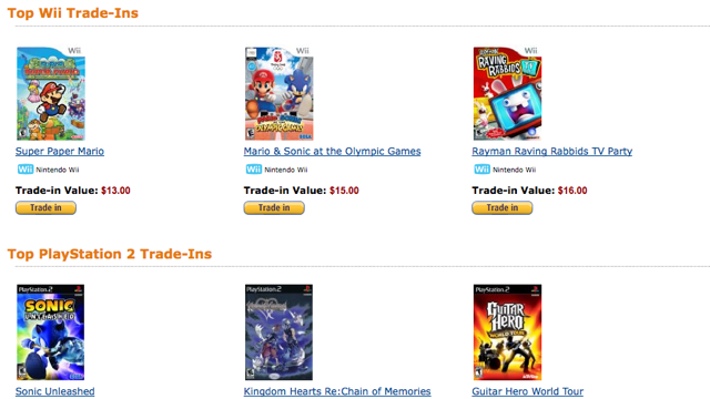Amazon gives gamers another option for used game trade-ins
