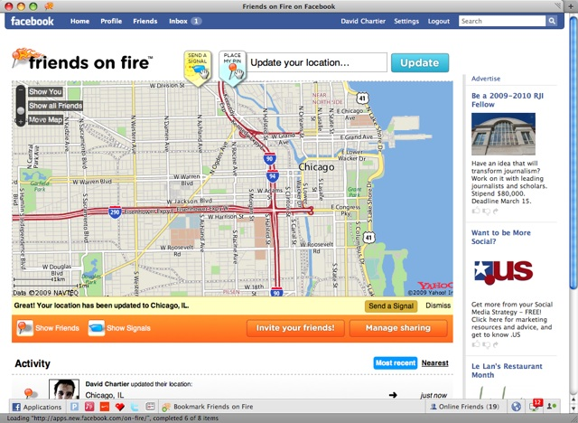 Yahoo brings location to Facebook, Firefox; plays catchup