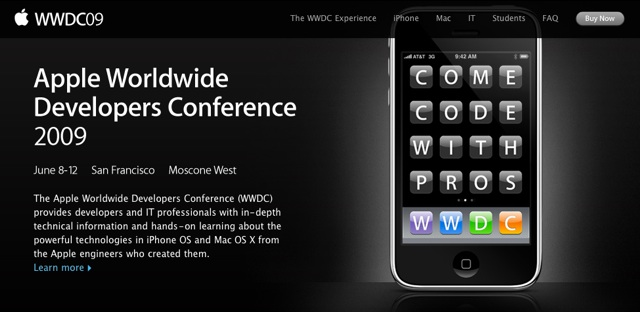 Apple's WWDC 2009 dates announced: June 8-12