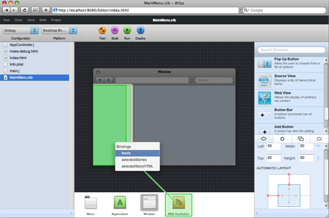 Atlas: a visual IDE for desktop-like web apps | Ars Technica