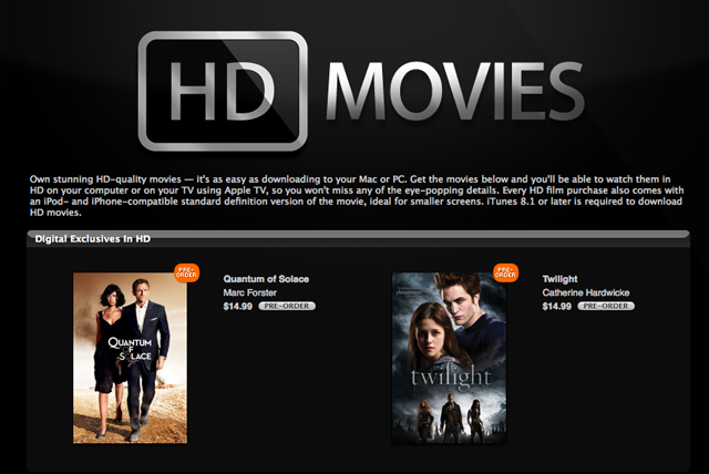 iTunes' HD movie rentals finally come to the Mac/PC