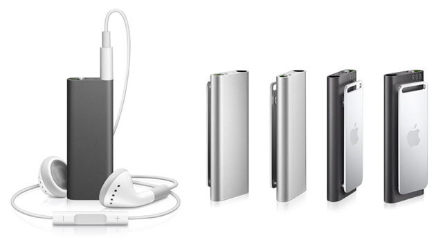 The new iPod shuffle moves the controls to the earbud cable, and comes in