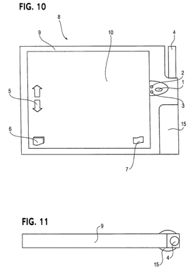 A diagram of MONEC's envisioned e-book device from its '678 patent. It looks very similar to Amazon's Kindle as well as e-book devices from Sony and others.