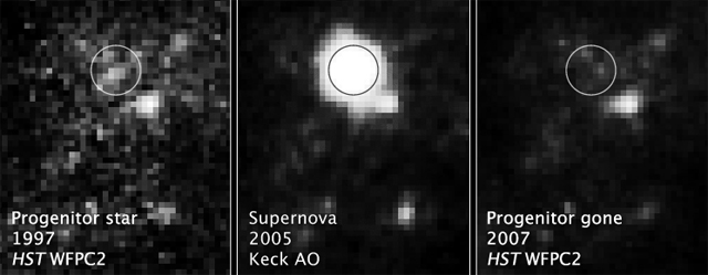 Parent stars of recent supernovae mixed news for theorists