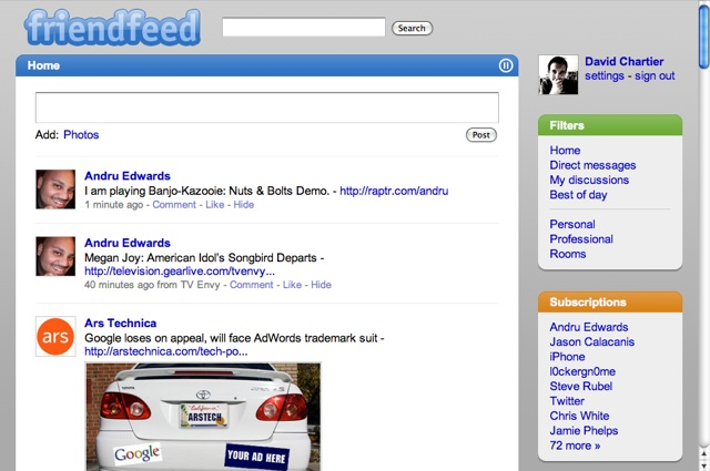 FriendFeed lifestreaming goes real-time for better and worse
