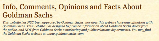 Goldman Sachs tries to bully Goldmansachs666.com off the 'Net