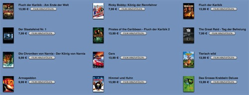 Movies currently rolling out on the German iTunes Store (Updated)