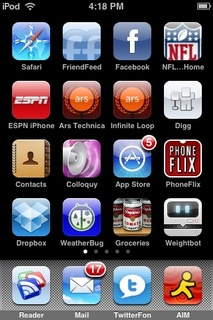 iPhone 3.0 builds get small upgrade to Springboard