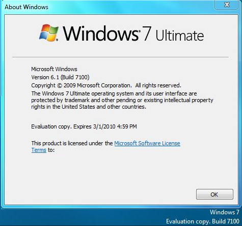 First screenshots of build Windows 7 build 7100 leak, release dates confirmed (Updated)