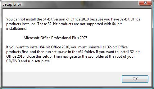 ms office 2007 64 bit setup
