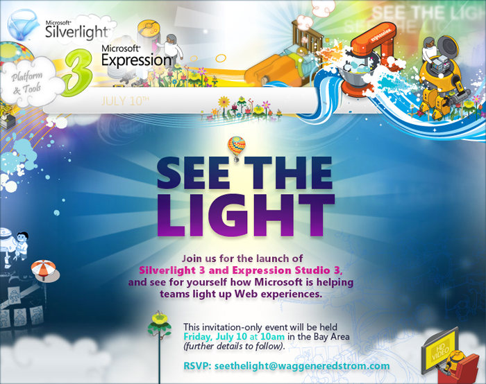 Silverlight 3 and Expression Studio 3 launching July 10