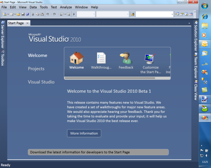 Beta 1 of Visual Studio 2010 and .NET Framework 4.0 on MSDN