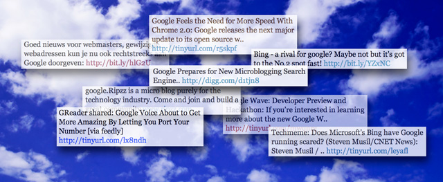 Google adding microblog indexing to its search results