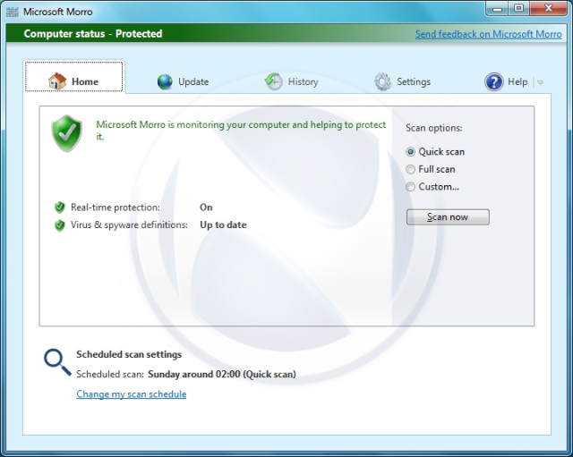 Leaked: screenshots of Morro, Microsoft's free antivirus