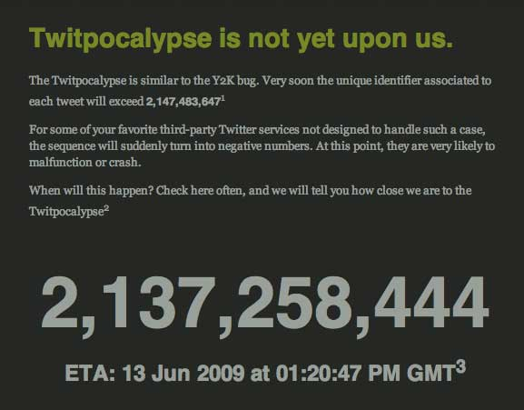 The Twitpocalypse is upon us... or is it?