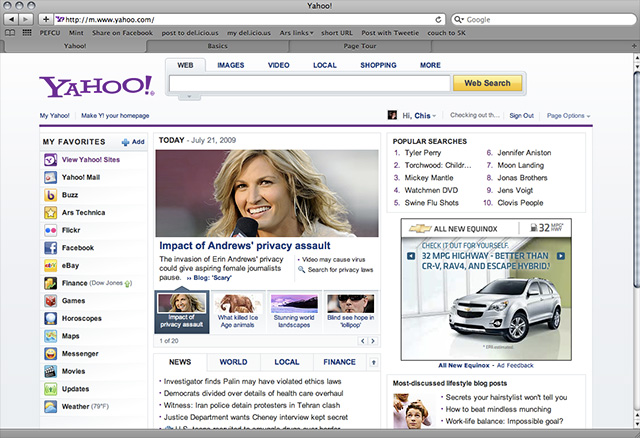 First look: major Yahoo makeover trickles down to US users