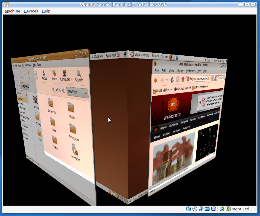 VirtualBox 3 brings 3D graphics support