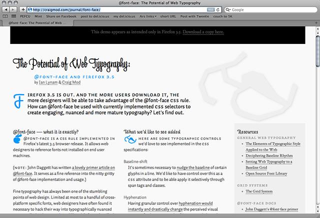 The hazy future of Web typography
