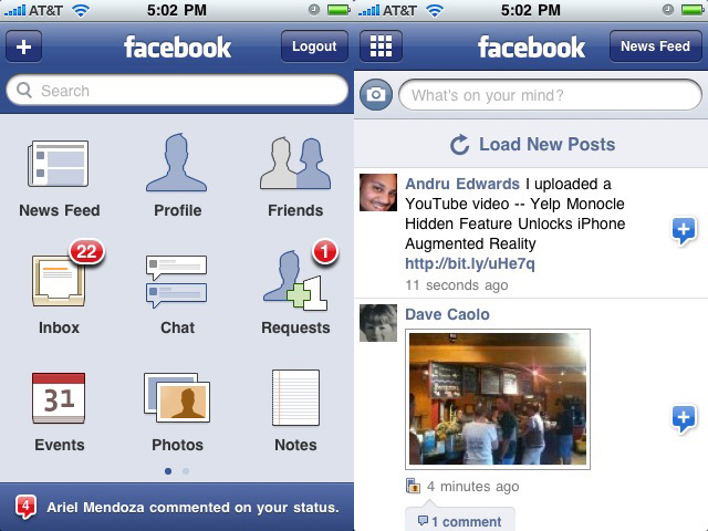 Facebook 3.0 finally hits the App Store with new UI goodness