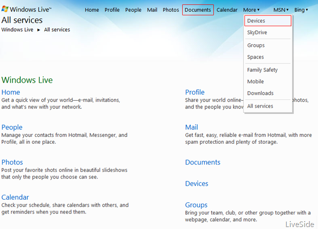 Two upcoming Windows Live services: Documents and Devices