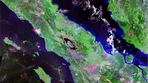 Landsat image of Lake Toba