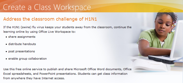 Microsoft fights H1N1 virus with free website for schools