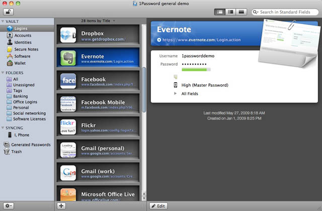 1Password 3.0 goes public beta with Snow Leopard support