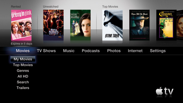 Apple TV 3.0 update adds Internet radio, new menu system